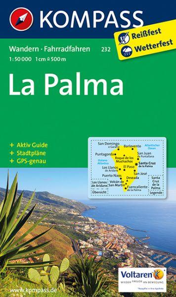 Kompass Karte 232 La Palma Wanderkarte Radkarte