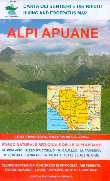 Edition Multigraphic 101/102, Alpi Apuane Wanderkarte; Toskana, 1:25.000
