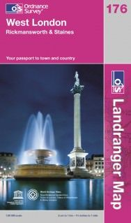 Landranger 176 West London Wanderkarte 1:50.000 - OS / Ordnance Survey