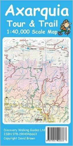 Axarquia Wanderkarte 1:40.000 Tour & Trail Map Discovery Walking Guides Ltd
