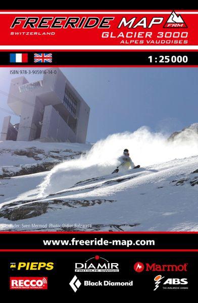 Freeride Map Glacier 3000, Skitourenkarte 1:25.000