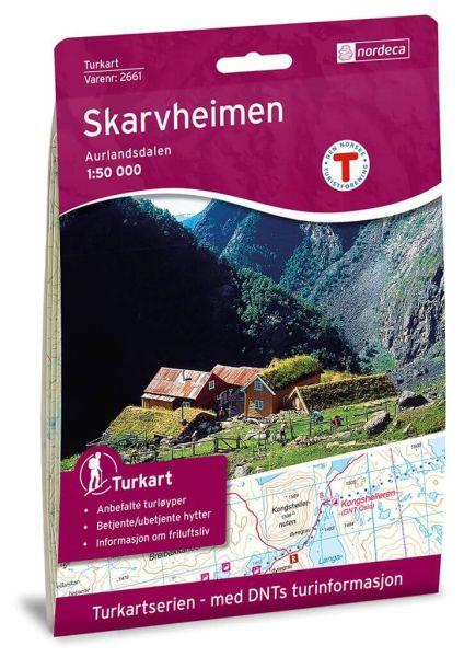 Skarvheimen Wanderkarte 1:50.000 – Norwegen, Turkart 2661 von Nordeca