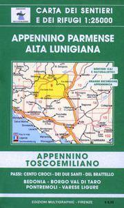 Edition Multigraphic, Appennino Parmense Alta Lunigiana Blatt 9, Toskana/Emilia, 1:25.000