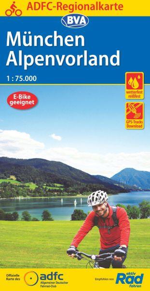 ADFC-Regionalkarte, München, Alpenvorland, wasser-und reißfest