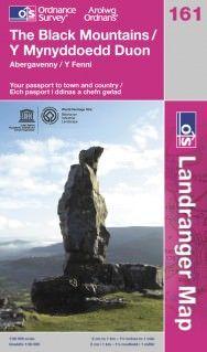 Landranger 161 The Black Mountains / Y Mynyddoedd Duon, Großbritannien Wanderkarte 1:50.000