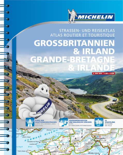 Großbritannien, Irland Straßenatlas, 1:300.000, Michelin