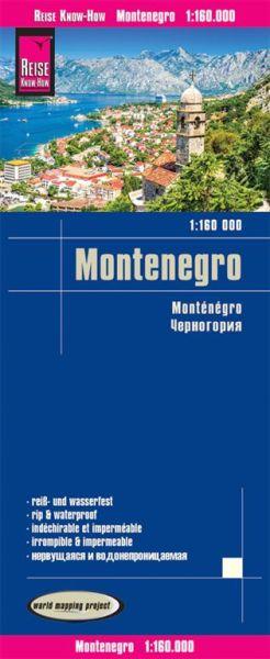 Montenegro Straßenkarte 1:160.000, Reise know-How