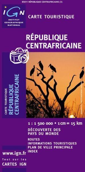 Zentralafrikanische Republik, Straßenkarte 1:1.500.000, IGN