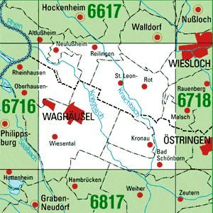 6717 WAGHÄUSEL topographische Karte 1:25.000 Baden-Württemberg, TK25