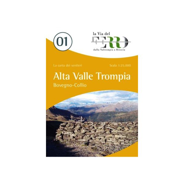 Wanderkarte für Alta Valle Trompia - Boveno - Collio in der Lombardei im Maßstab 1:25.000