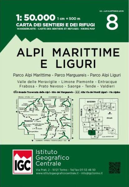 IGC 8 - Wanderkarte für Alpi Marittime e Liguri 1:50.000