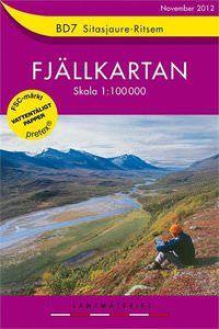 Fjällkartan BD7 Schweden Trekking- und Wintersportkarte 1:100.000