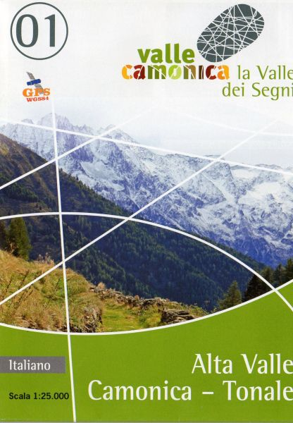 Wanderkarte 01 für Alta Valle Camonica – Tonale im Maßstab 1:25.000, Ingenia
