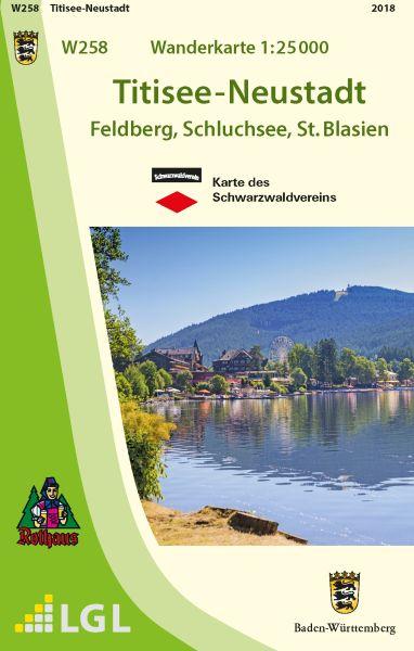 Titisee-Neustadt W258, Wanderkarte 1:25.000, Schwarzwaldverein