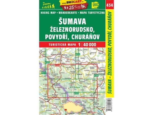 Böhmerwald (Sumava) Wanderkarte 1:40.000 - SHOCart 434