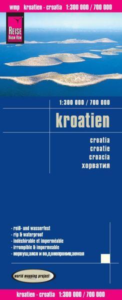 Kroatien Landkarte 1:300.000 / 700.000, Reise Know-How