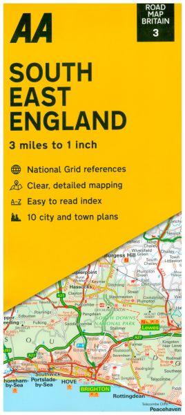 AA Straßenkarte Blatt 3, South East England 1:200.000