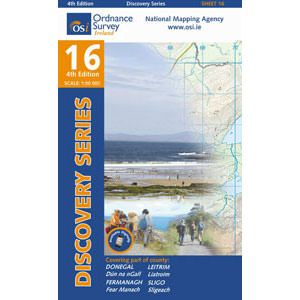 OSI 16 Donegal, Fermanagh, Leitrim, Sligo Wanderkarte 1:50.000