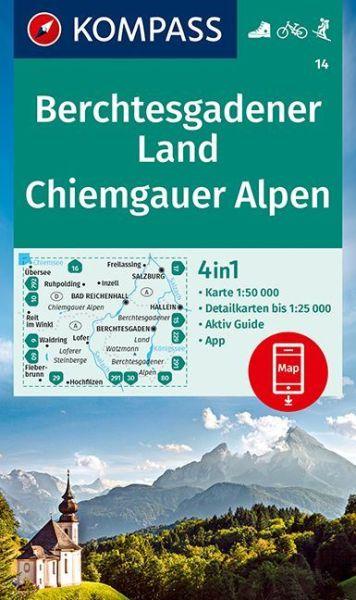 Berchtesgadener Land Karte.Kompass Karte 14 Berchtesgadener Land 1 50 000 Wandern Rad Fahren