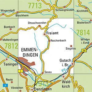 7813 EMMENDINGEN topographische Karte 1:25.000 Baden-Württemberg, TK25