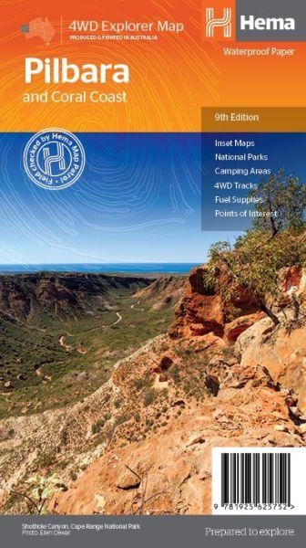 HEMA Regional Map Pilbara and Coral Coast 1:1.250.000