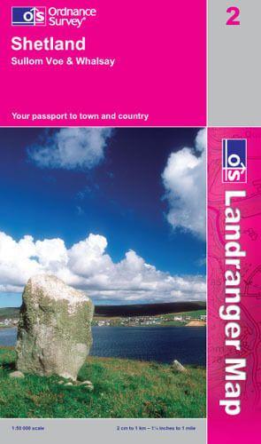 Landranger 2 Shetland - Sullom Voe & Whalsay Wanderkarte 1:50.000 - OS / Ordnance Survey