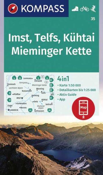 Kompass Karte 35, Imst, Telfs, Kühtai 1:50.000, Wandern, Rad fahren