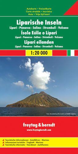 Liparische Inseln, Landkarte 1:20.000, Freytag und Berndt
