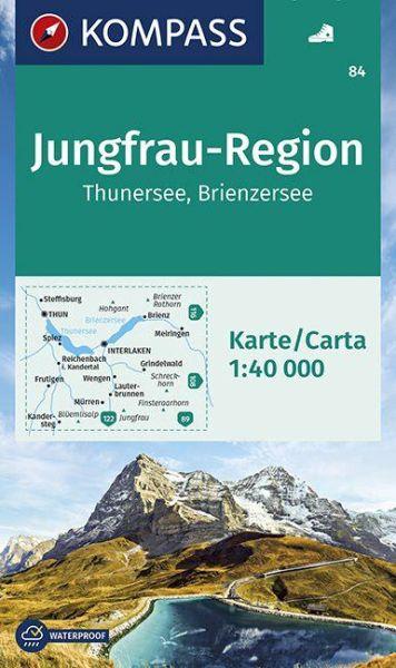 Kompass Karte 84 Jungfrau Region Wanderkart
