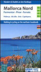 Mallorca Nord Rad- und Wanderkarte 1:25.000 - Editorial Alpina