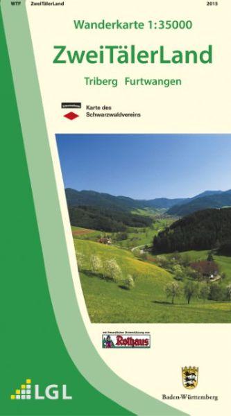 Zweitälerland Wanderkarte 1:35.000 Schwarzwaldverein