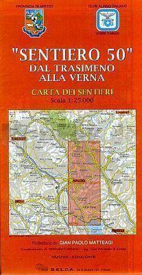 """Sentiero 50"" dal Trasimeno alla verna, Wanderkarte 1:25.000"