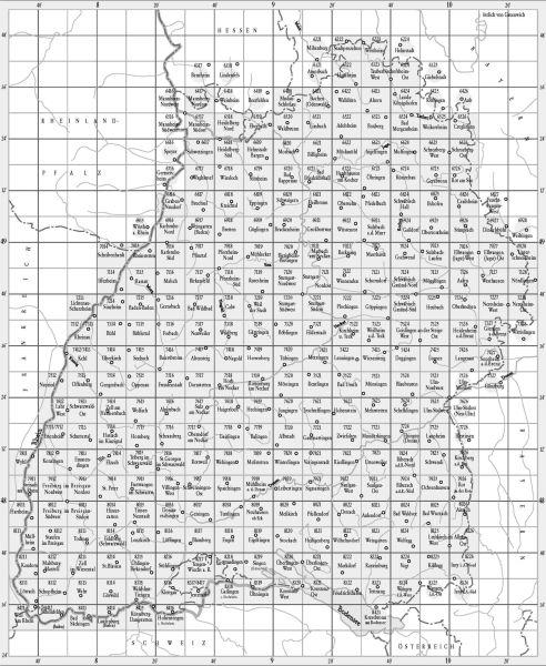 7228 NERESHEIM OST topographische Karte 1:25.000 Baden-Württemberg, TK25