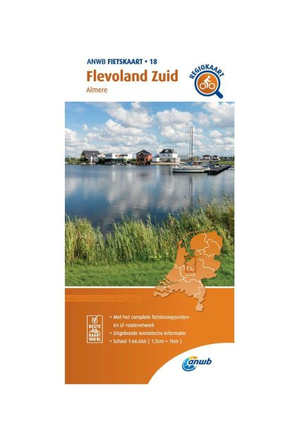 Flevoland Süd Radkarte 1:66.666, ANWB Bl. 18