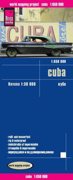 Cuba / Kuba Landkarte 1:650.000, Reise Know-How
