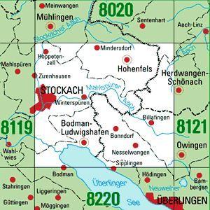 8120 STOCKACH topographische Karte 1:25.000 Baden-Württemberg, TK25