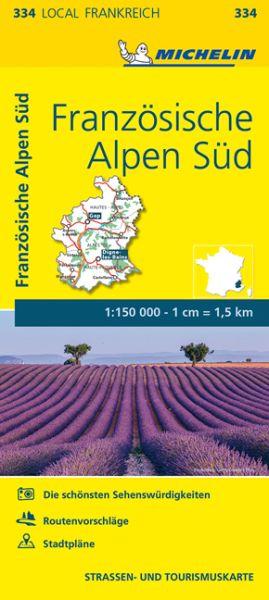 Michelin local 334 Französische Alpen Süd Straßenkarte 1:150.000