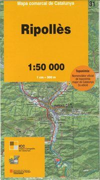 Ripolles, Katalonien topographische Karte, Spanien 1:50.000, ICC 31