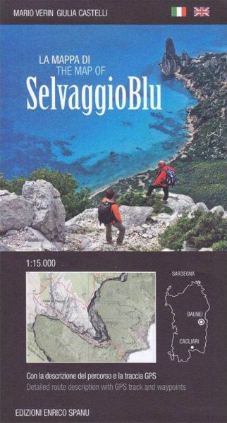 Fernwanderweg: Selvaggio Blu (Sardinien) Wanderkarte 1:15.000