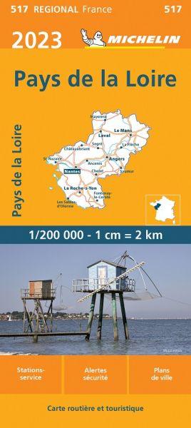 Michelin regional 517 Loire-Tal reiß- und wasserfest 1:200.000