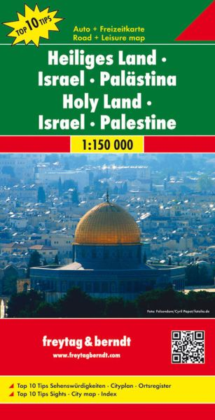 Israel, Palästina, Heiliges Land, Landkarte 1:150.000, Freytag und Berndt