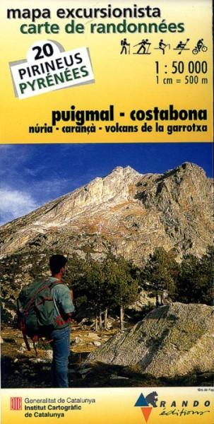 Rando Blatt 20, Puigmal-Costabona, Wanderkarte Pyrenäen 1:50.000