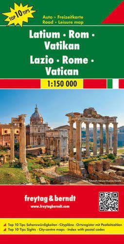Latium - Rom - Vatikan Straßenkarte 1:150.000, Freytag und Berndt