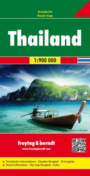 Thailand, Straßenkarte 1:900.000, Freytag und Berndt