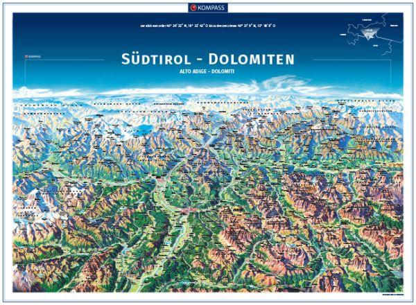 Kompass Panorama Südtirol Poster