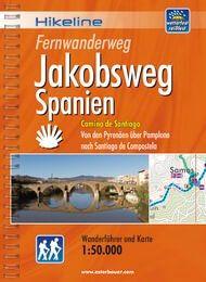 Jakobsweg Spanien, Hikeline Wanderführer mit Karte