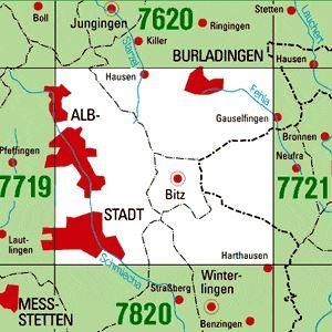7720 ALBSTADT topographische Karte 1:25.000 Baden-Württemberg, TK25