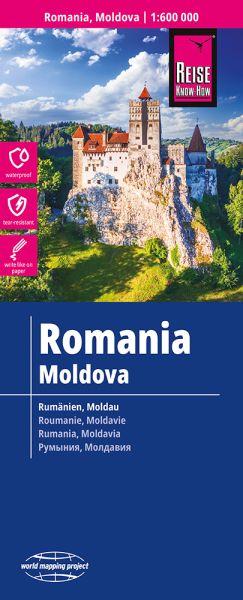 Rumänien, Moldau Landkarte 1:600.000, Reise Know-How