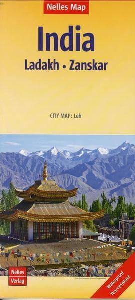 Nelles Maps, Indien: Ladakh - Zanskar 1:350.000 wasser- und reissfest