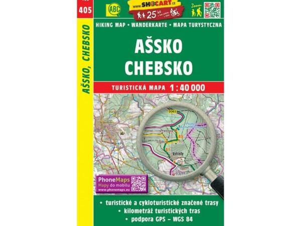 Assko (Ascher Ländchen), Egerland Wanderkarte 1:40.000 - SHOCart 405